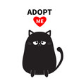 adopt me dont buy black sitting sad cat vector image
