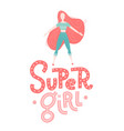 baby print super girl hand drawn graphic vector image