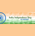 banner for independence day in indian republic vector image