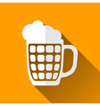 Beer Mug Icon Long Shadows vector image
