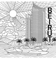 beirut building vector image vector image