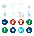 billet pack sheepblue canistermoloko set vector image vector image