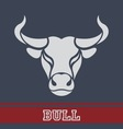 Bull logo vector image vector image