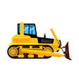 bulldozer isolated quarry hydraulic machine vector image vector image