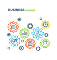 business integration mechanism marketing vector image vector image