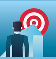 businessman arrow pointing target business vector image