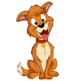 cartoon silly sitting dog vector image vector image