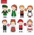 children world ireland finland estonia vector image vector image