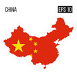 china map border with flag eps10 vector image