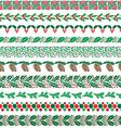 christmas border patterns vector image vector image