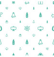 christmas icons pattern seamless white background vector image vector image