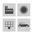 collection electricity power energy icons vector image