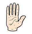 comic cartoon hand vector image vector image