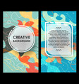 creative layout with spotted background modern