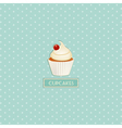 cupcake and polka dot background vector image vector image