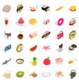cupcake icons set isometric style vector image vector image