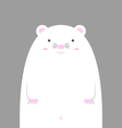 cute big fat white mouse vector image vector image