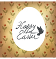 Easter retro cute card with spring flowers