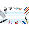 education background concept with school supplies vector image
