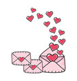envelopes with heart vector image