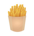 french fries fast food restaurant vector image