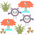 funny monsters seamless pattern it is located in vector image vector image