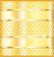 golden metal perforated background vector image