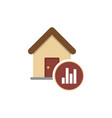 graph of real estate prices growth icon vector image