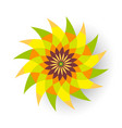green and orange flower vector image vector image