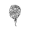 happy birthday to you text written in ballon shape vector image
