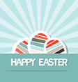 Happy Easter Retro Paper Background with Eggs vector image vector image