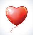 Heart shaped red balloon isolated on white vector image vector image
