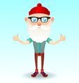 Hipster grandpa vector image vector image