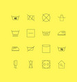 laundry linear icon set simple outline icons vector image vector image