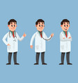 male doctor in different poses vector image vector image