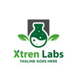 modern natural biological lab logo vector image vector image