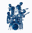 musician playing music together music band vector image vector image