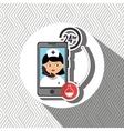 nurse 24-hour health odontology isolated icon