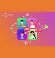 people chatting social media online together vector image vector image