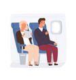 people traveling plane passengers on their vector image vector image