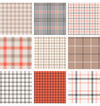 plaid seamless pattern background vector image vector image