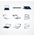 portable icon set vector image vector image
