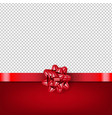 red bow with ribbon isolated transparent vector image vector image