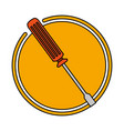 screwdriver repair tool vector image