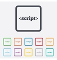 Script sign icon Javascript code symbol vector image
