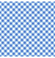 seamless blue classic table cloth texture vector image vector image
