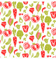 seamless food pattern background vector image vector image
