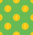 Seamless pattern from Gold dollar coin Background vector image vector image