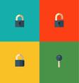 set lock icons vector image