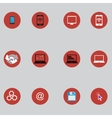 set of icons with bisiness elements in flat design vector image